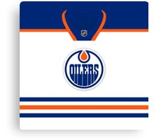 Edmonton Oilers Away Jersey Canvas Print