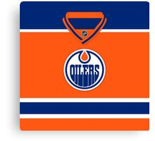Edmonton Oilers Alternate Jersey Canvas Print