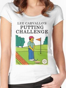 Lee Carvallo's Putting Challenge Women's Fitted Scoop T-Shirt