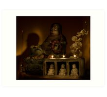 Listen to the voice of Buddha Art Print