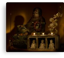 Listen to the voice of Buddha Canvas Print
