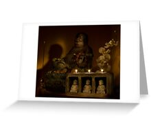 Listen to the voice of Buddha Greeting Card