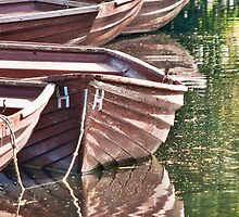 Rowing boats at Flatford Mill by daimonic
