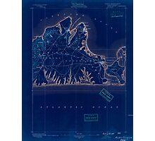 Massachusetts  USGS Historical Topo Map MA Marthas Vineyard 352837 1889 62500 Inverted Photographic Print