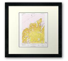 Massachusetts  USGS Historical Topo Map MA Vineyard Haven 350664 1951 24000 Framed Print
