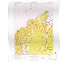 Massachusetts  USGS Historical Topo Map MA Vineyard Haven 350664 1951 24000 Poster