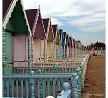 Mersea Beach Huts Photographic Print