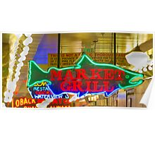 Market Neon Poster