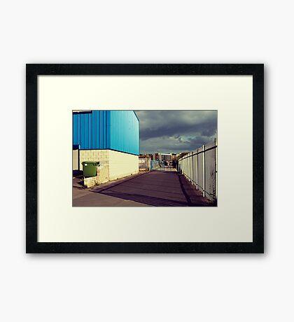 Green Bin Hiding  Framed Print