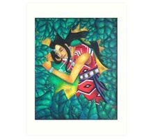 When a Goddess Sleeps Art Print