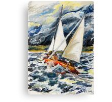Stormy Way Home Canvas Print