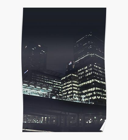 Night Time London Poster