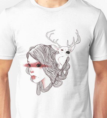 deer girl Unisex T-Shirt