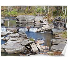 country waterfall Poster