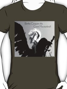 Barbie Conquers the Monsterbird w/ Text T-Shirt