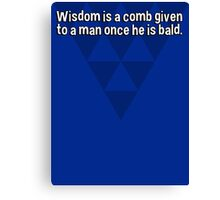 Wisdom is a comb given to a man once he is bald. Canvas Print
