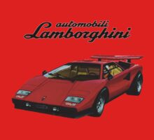 Lamborghini Countach Retro Kids Clothes