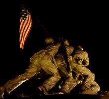 Iwo Jima at Night by hcorrigan