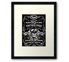 Aged 70 Years Vintage Dude The Man The Myth The Legend Framed Print