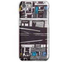 Washing line on a boathouse in Amsterdam iPhone Case/Skin