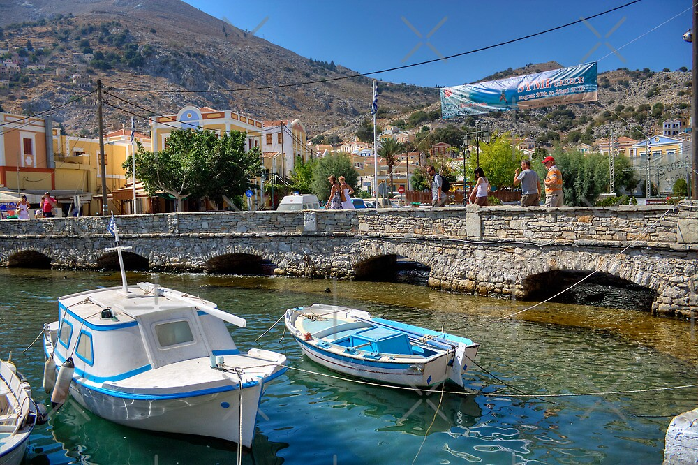 Gialos harbour bridge by Tom Gomez