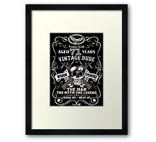 Aged 71 Years Vintage Dude The Man The Myth The Legend Framed Print