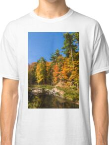 Impressions of Forests - Autumn on the Riverbank Classic T-Shirt