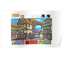 Town View - Cute Monsters RPG - Pixel Art Poster