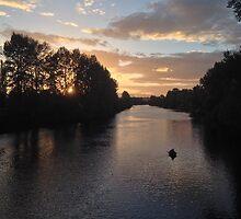 A Soft Autumn Sunset by Saiyn