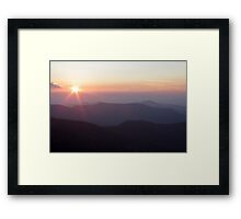 Starburst Sunset over the Appalachians  Framed Print