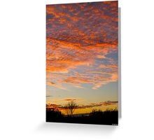 Back Deck Sunset II Greeting Card