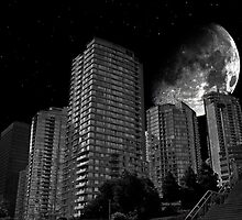 City and the moon by Darren Bailey LRPS