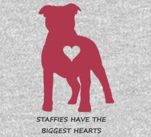 Staffies have the biggest hearts One Piece - Short Sleeve