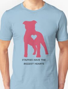 Staffies have the biggest hearts T-Shirt