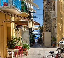 Symi Alleyway by Tom Gomez