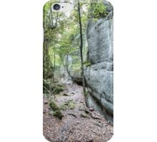 Walking Between Rock Walls (Santa Maria de Besora, Catalonia) iPhone Case/Skin