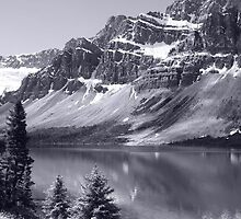 Bow Lake B/W by Vickie Emms