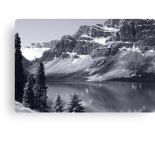 Bow Lake B/W Canvas Print
