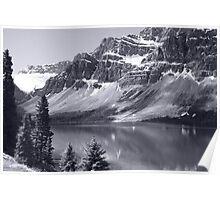 Bow Lake B/W Poster