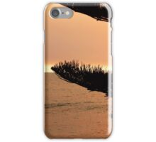 Setting on the beach iPhone Case/Skin
