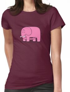 Elephellatio PINK Womens Fitted T-Shirt