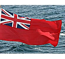 Westering Home - Red Flag and Blue Sea Photographic Print