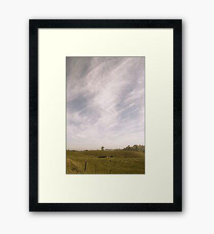 Streaking Sky Framed Print