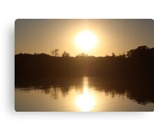 Sunset on Wonder Lake, IL Canvas Print