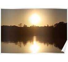 Sunset on Wonder Lake, IL Poster