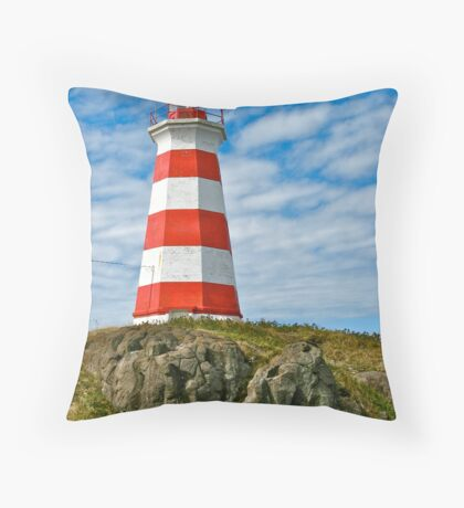 Brier Island (West) Lighthouse Throw Pillow