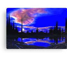 Spires of OO'Lak - Night Approaches Canvas Print