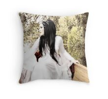 Bride on the Stour IV - Tranquility Throw Pillow