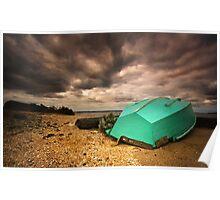 Lone Boat  HDR - Avalon Beach, Geelong - Australia Poster