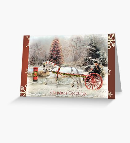 On The Road To Christmas  Greeting Card